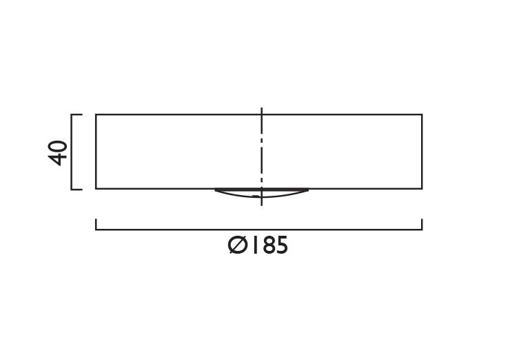 Waylight 3 Round Surface Line Drawing
